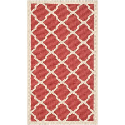Safavieh Courtyard Red/Bone Rug