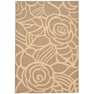Safavieh Courtyard Coffee/Sand Floral Rug