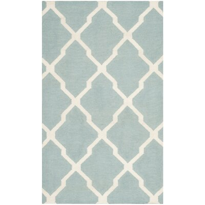 <strong>Safavieh</strong> Dhurries Light Blue/Ivory Rug