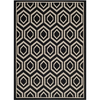 Safavieh Courtyard Black/Beige Rug