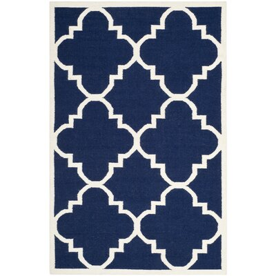 Safavieh Dhurries Navy/Ivory Rug