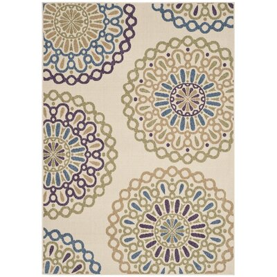 Safavieh Veranda Cream / Green Outdoor Rug
