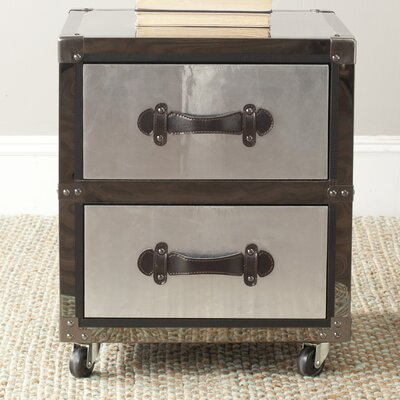 Safavieh Gage 2 Drawer Rolling Chest