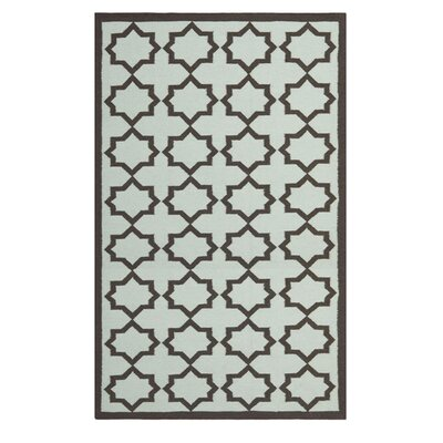 Safavieh Dhurries Light Blue/Ivory Cross Rug