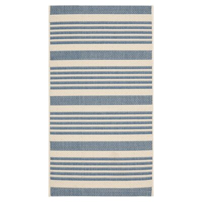 <strong>Safavieh</strong> Courtyard Beige/Blue Rug