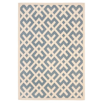 Safavieh Courtyard Blue / Bone Outdoor Rug