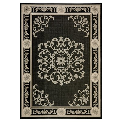 <strong>Safavieh</strong> Courtyard Black/Sand Rug