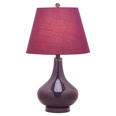 """Safavieh Amy Gourd 24"""" H Table Lamp with Empire Shade"""