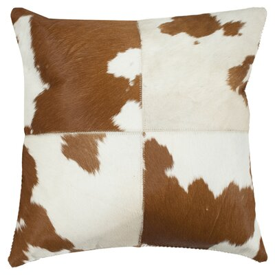 Safavieh Carley Cowhide / Suede Backing Decorative Pillow (Set of 2)