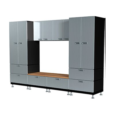 Hercke 16 Piece Lockers and Bench Storage Cabinet Set