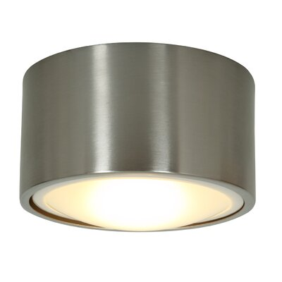 Access Lighting Ares Dimmable CCFL Flush or Wall Mount Brushed Steel