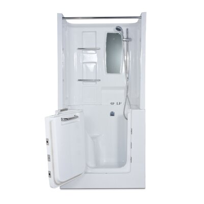 "Therapeutic Tubs Mesa 40"" x 30"" Walk-In Tub with Right Hand Drain, Whirlpool and Air Massage"