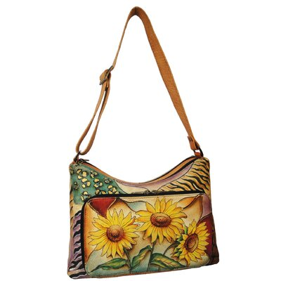 Anuschka Twin-Top Shouder Bag in Sunflower Safari