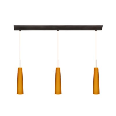 Camino 3 Light Pendant with Bar Canopy