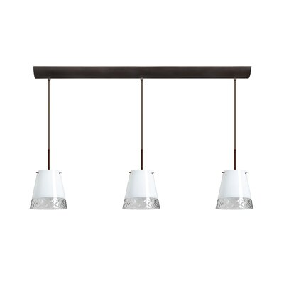 Besa Lighting Amelia 3 Light Pendant with Bar Canopy