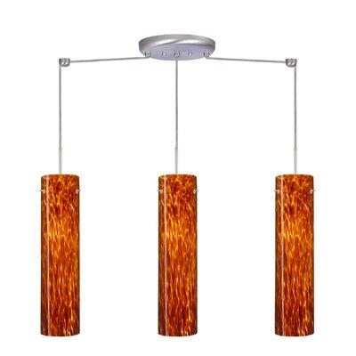 Besa Lighting Stilo 3 Light Linear Pendant