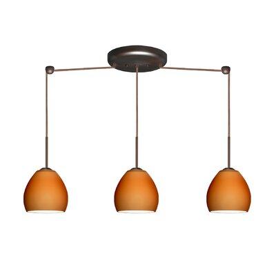 Besa Lighting Bolla 3 Light Linear Mini Pendant