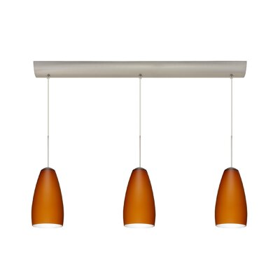 Chrissy 3 Light Pendant with Bar Canopy