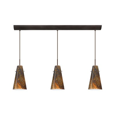 Besa Lighting Cierro 3 Light Pendant with Bar Canopy