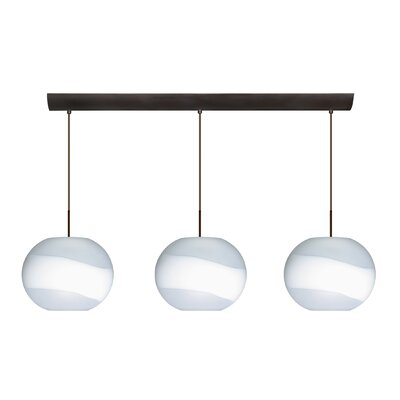 Besa Lighting Luna 3 Light Pendant