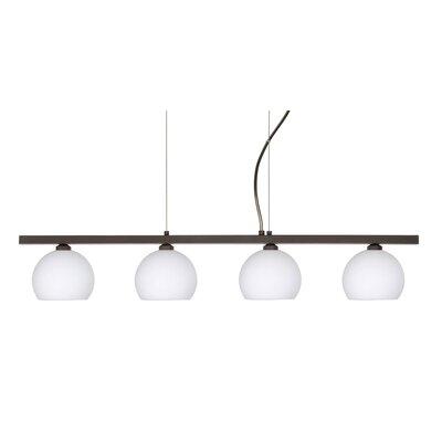 Besa Lighting Palla 4 Light Linear Pendant
