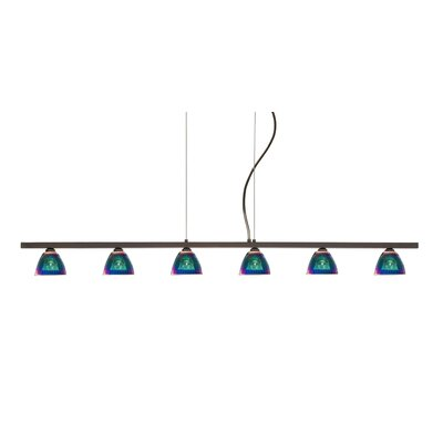Besa Lighting Divi 6 Light Kitchen Island Pendant