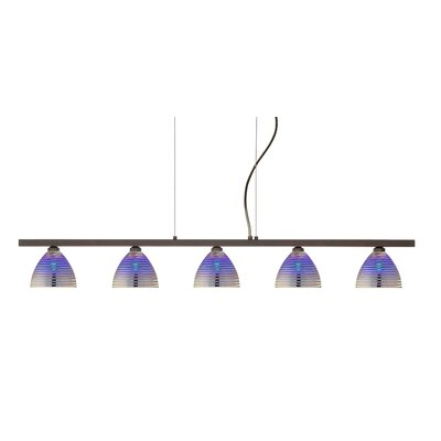 Besa Lighting Sabrina 5 Light Linear Pendant
