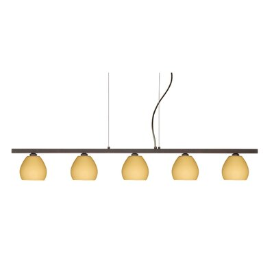 Besa Lighting Tay Tay 5 Light Linear Pendant