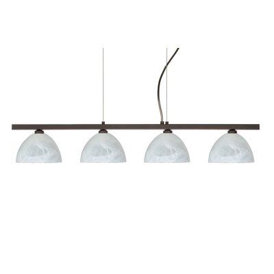 Besa Lighting Brella 4 Light Linear Pendant