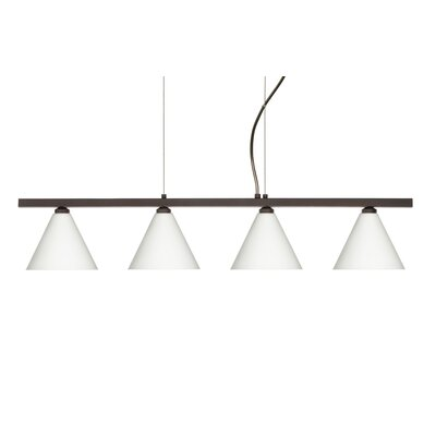 Besa Lighting Kani 4 Light Cable Hung Linear Pendant