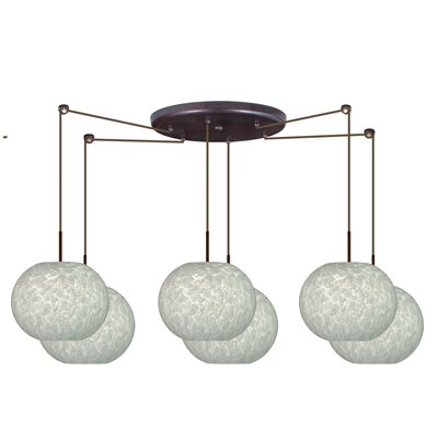 Besa Lighting Luna 6 Light Globe Pendant