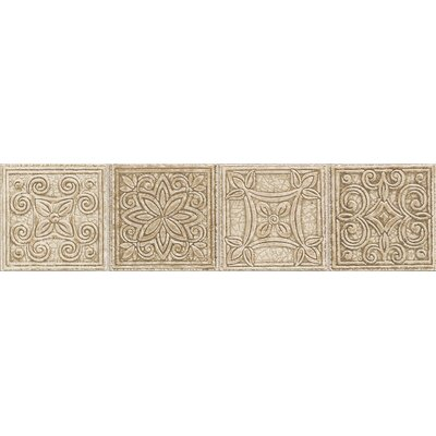 "Mohawk Flooring Natural Bella Rocca 12"" x 3"" Universal Decorative Border"