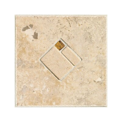 "Mohawk Flooring Natural Bucaro 6-1/2"" x 6-1/2"" Decorative Wall Insert in Noce"