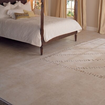 "Mohawk Flooring Mirador 20"" x 20"" Floor Tile in Brown Pearl"