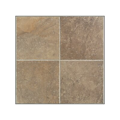 "Mohawk Flooring Egyptian Stone 13"" x 13"" Floor Tile in Cairo Brown"