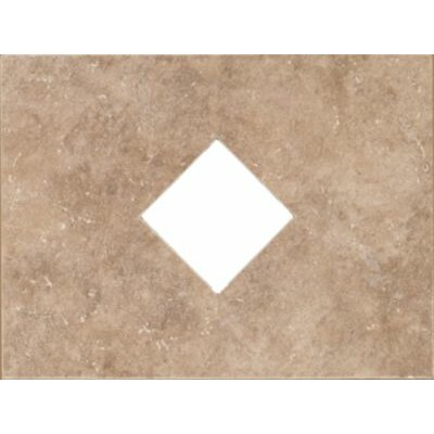 "Mohawk Flooring Natural Bella Rocca 12"" x 9"" Decorative Diamond Cut-Out Tile in Roman Beige"
