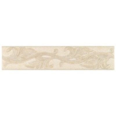 "Mohawk Flooring Natural Pavin Stone 14"" x 3"" Decorative Accent Strip in White Linen"