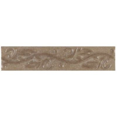 "Mohawk Flooring Pavin Stone 3"" x 14"" Decorative Accent Strip in Brown Suede"