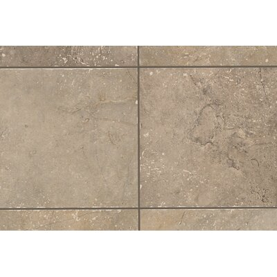 "Mohawk Flooring Rustic Egyptian Stone 13"" x 3"" Bullnose Tile Trim in Cairo Brown"