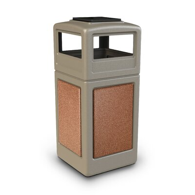 Commercial Zone 42 Gallon StoneTec Panel with Ashtray Dome Lid