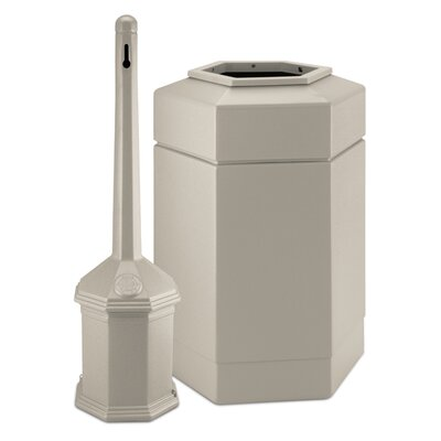 Commercial Zone Site Saver Trash and Cigarette Receptacle Set