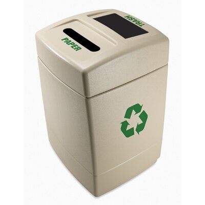 Commercial Zone Green Zone 55 Gallon Multi Compartment Recycling Bin