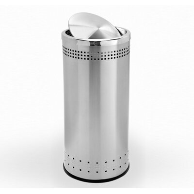 Commercial Zone Precision Series Trash Can with Imprinted 360° Swivel Door
