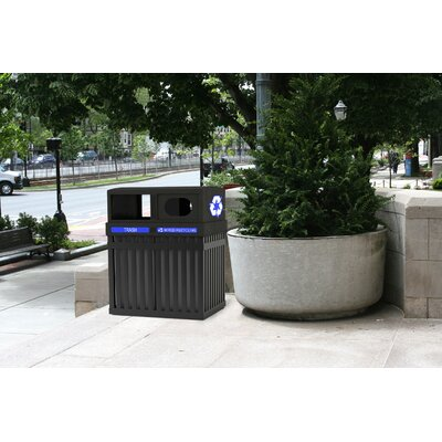 Commercial Zone 50 Gallon ArchTec Parkview Recycling Receptacle