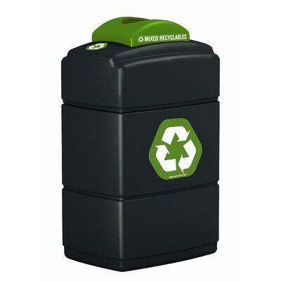 Commercial Zone Green Zone Recycling Top Waste Container