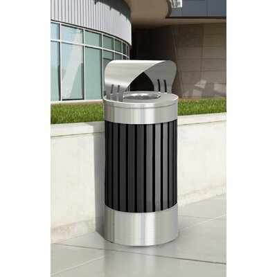 Commercial Zone Riverview Canopy Top Trash Receptacle