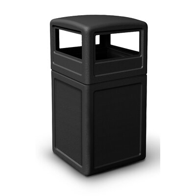 Commercial Zone 38 Gallon Square Waste Container with Dome Lid