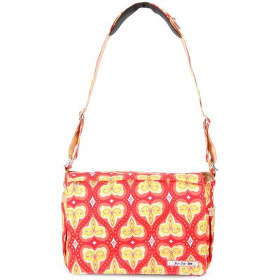 Ju Ju Be Be All Messenger Diaper Bag in Coral Kiss