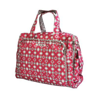 Ju Ju Be Be Prepared Messenger Diaper Bag in Pink Pinwheels