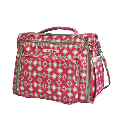 BFF Messenger / Backpack Diaper Bag in Pink Pinwheels